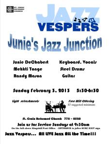 Don't miss out on February jazz and fellowship
