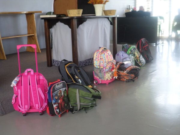 The backpacks