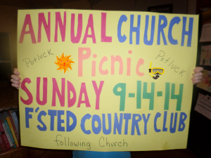 Church Picnic 2014