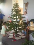 decorating the angel tree