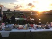 church picnic setting sun