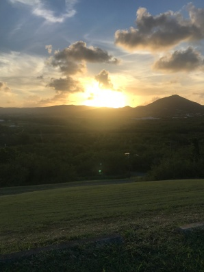 church picnic sunset