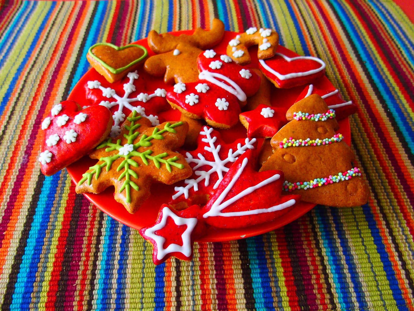christmas christmas cookies colorful colourful